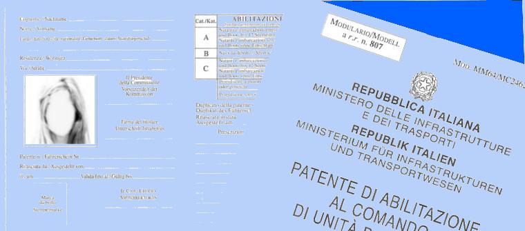 Tipi di patente mobilit amministrazione provinciale provincia autonoma di bolzano alto - Diversi tipi di turismo ...